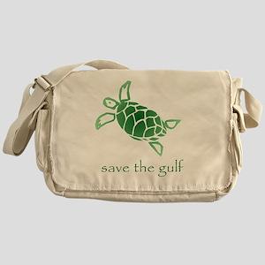 turtle-pap-green-grad Messenger Bag
