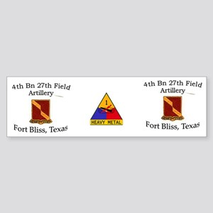 4th Bn 27th FA Mug2 Sticker (Bumper)