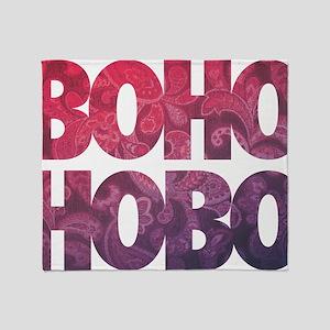 bohemian boho hobo t-shirt Throw Blanket