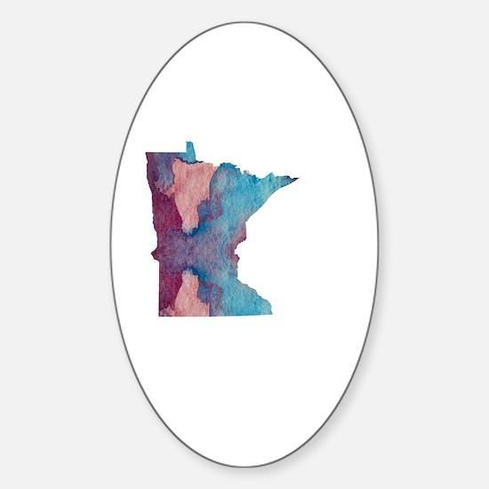 Unique Minnesota painting Sticker (Oval)