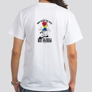 Big Pecker Poker White T-Shirt