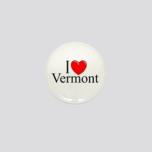 "'I Love Vermont"" Mini Button"