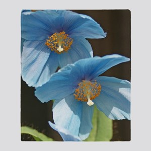 Sunny Meconopsis by orchidgalore-cro Throw Blanket