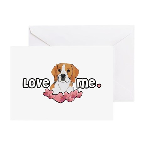Love Me Beagle Greeting Cards (Pk of 10)