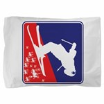 A Snow Skier in Red White and Blue Pillow Sham