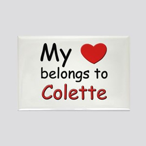 My heart belongs to colette Rectangle Magnet