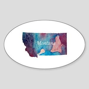 Montana silhouette Sticker