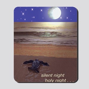 SILENT NIGHT SEA TURTLE CHRISTMAS Mousepad