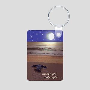 SILENT NIGHT SEA TURTLE CH Aluminum Photo Keychain