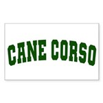 Cane Corso Green Sticker (Rectangle)