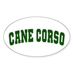 Cane Corso Green Sticker (Oval)
