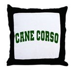 Cane Corso Green Throw Pillow