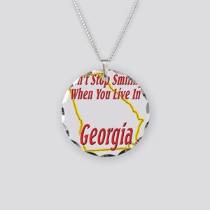 Georgia - Smiling Necklace Circle Charm