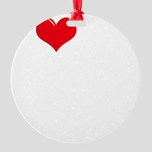 I-Love-My-Australian-Shepherd-dark Round Ornament