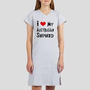 I-Love-My-Australian-Shepherd Women's Nightshirt