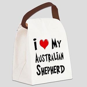 I-Love-My-Australian-Shepherd Canvas Lunch Bag