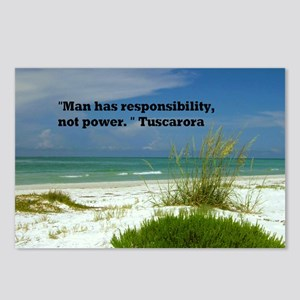 Man has responsibility23x Postcards (Package of 8)
