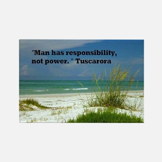 Man has responsibility23x35 Rectangle Magnet