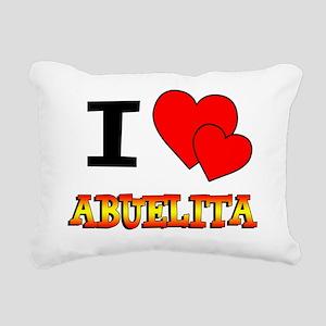 I Love Abuelita Rectangular Canvas Pillow