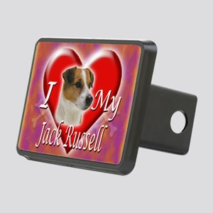 2-I Love My Jack Russell Rectangular Hitch Cover