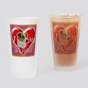 2-I Love My Jack Russell Drinking Glass