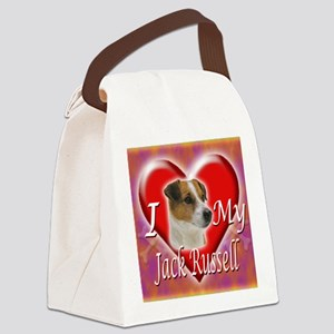 2-I Love My Jack Russell Canvas Lunch Bag