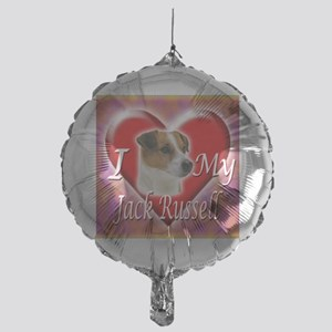 2-I Love My Jack Russell Mylar Balloon