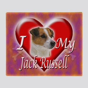 2-I Love My Jack Russell Throw Blanket