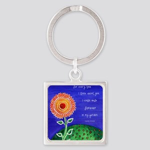 sSunflower small poster Square Keychain