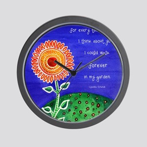 sSunflower small poster Wall Clock