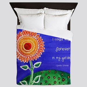 sSunflower small poster Queen Duvet
