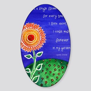 sSunflower small poster Sticker (Oval)