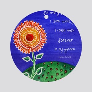 sSunflower small poster Round Ornament