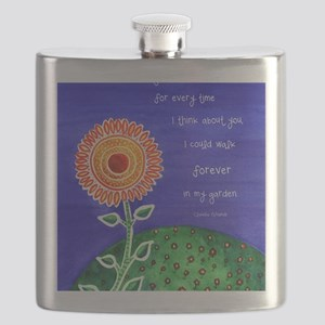sSunflower small poster Flask