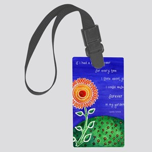 sSunflower small poster Large Luggage Tag