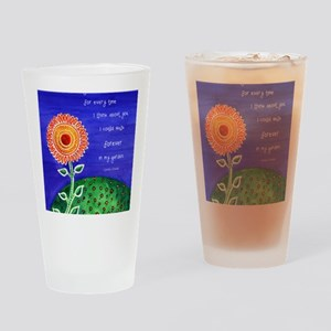 sSunflower small poster Drinking Glass