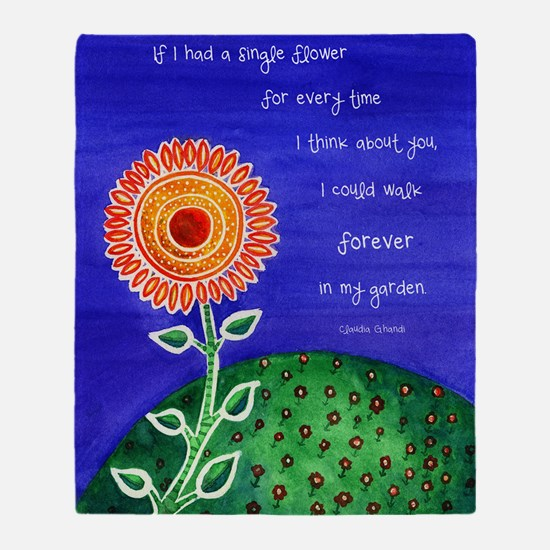 sSunflower small poster Throw Blanket