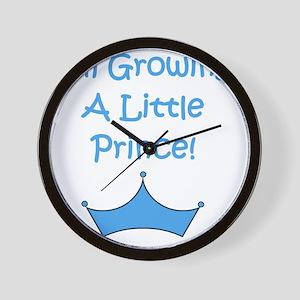imgrowingalittleprince_crown2 Wall Clock