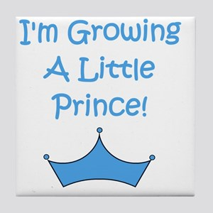imgrowingalittleprince_crown2 Tile Coaster