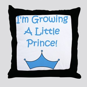 imgrowingalittleprince_crown2 Throw Pillow