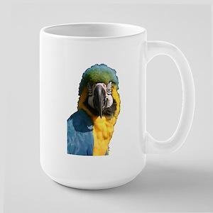 Blue and Gold macaw Large Mug