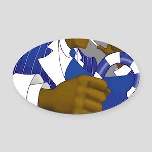 sigmapad Oval Car Magnet