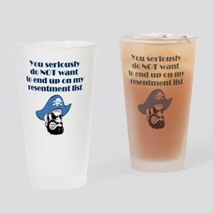resentment-pirate Drinking Glass