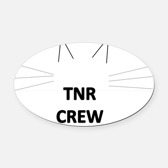 TNRcrew Oval Car Magnet