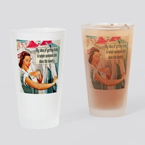 Lucky Laundry Drinking Glass