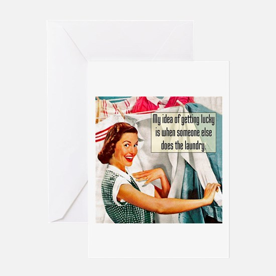 Lucky Laundry Greeting Card