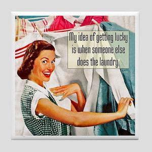 Lucky Laundry Tile Coaster