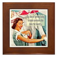 Lucky Laundry Framed Tile