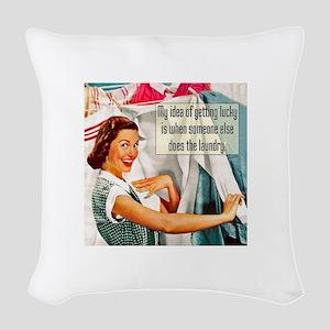 Lucky Laundry Woven Throw Pillow