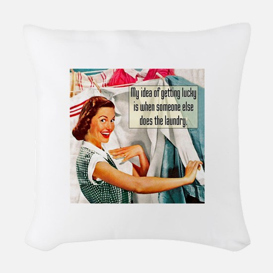 Lucky Laundry Woven Throw Pillow